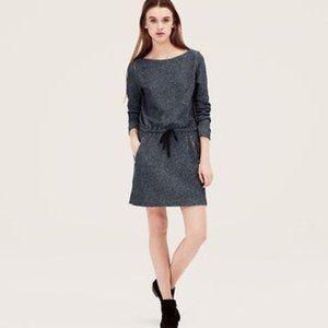 LOFT Gray Sweatshirt Dress